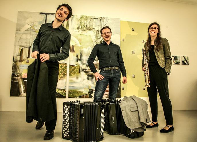 «trio akk:zent» spielt im Rahmen<br>der Akkordeontage 2021