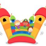 Hüpfburg und Kinderspass am<br>Tag der offenen Tür der Ludothek -<br>11 bis 16 Uhr -<br>zweites Wochenende der Vielfalt
